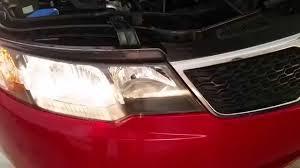 2013 kia forte testing headlights after changing bulbs low
