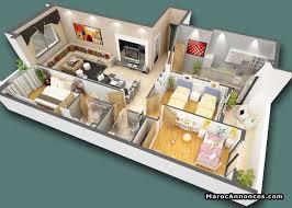 plan maison marocaine 3d