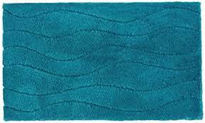 schöner wohnen badteppich badematte santorin wellen türkis