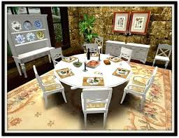 Thanksgiving Dinner Table Questions Setup For Two Settings Second Life Marketplace Party Dining Set 6 Almond Kitchen Alluring Main Al