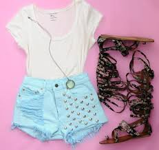 Cute Outfits Shirts Summer Shorts With Tumblr