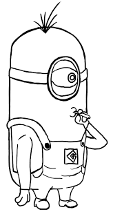Coloring Pages Despicable Me Minion Anime Movie Printable Free For