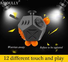 Latest Version Fidget Cube Interesting High Quality 12 Sided Spinner Anti Irritability Toy Magic Cobe