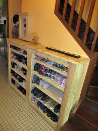 Beautiful Handy Hallway Pallet Shoe Rack Ideas 1001 Pallets As Well Stunning
