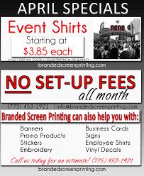 new april specials on custom shirts branded custom t shirt