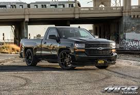 Silverado Muscle Truck With Lowered Suspension And MRR Wheels ...