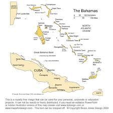 Bahamas Map Nassau Caribbean Royalty Free Jpg