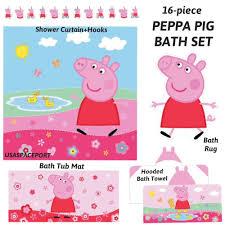 Finding Nemo Bath Towel Set by 16pc Peppa Pig Bathroom Set Shower Curtain Hooks Rug Tub Mat