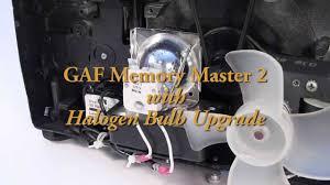 gaf memory master 2 projector w halogen bulb upgrade