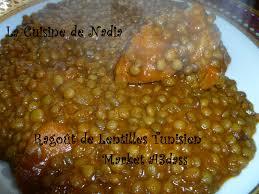 recette de cuisine tunisienne avec photo la cuisine de ragoût de lentilles tunisien market a3dass