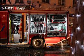 File:Equipment And Tools In A Fire Engine In Intervention In ...