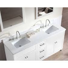 Double Sink Vanity Top by Ariel Bath F073d Wq Wht Hamlet 73 Double Sink Vanity Set In White
