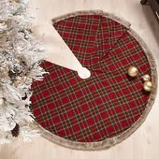 Jeffrey Banks Plaid Tidings Christmas Tree Skirt At HSN