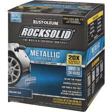 Rust Oleum Decorative Concrete Coating Applicator by Rust Oleum Rocksolid Metallic Floor Coating Kit 299745 Do It Best