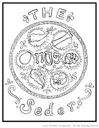 Free Passover Coloring Pages At Shalom Living