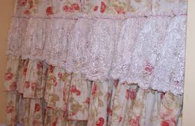Pink Ruffle Curtains Uk by White Lace Shower Curtain Uk Curtain Best Ideas