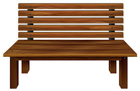 Wooden Bench PNG Clipart Image