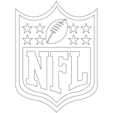 Click To See Printable Version Of NFL Logo Coloring Page