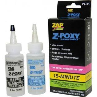 Pacer PT35 Zap Z-Poxy 15 Minute Epoxy Glue - 4oz
