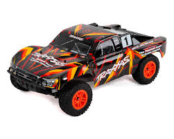 100 Slash Rc Truck Traxxas 4X4 RTR 4WD Brushed Short Course Orange