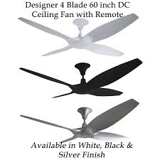 60 Inch Ceiling Fans With Remote by Designer 4 Blade 60 Inch 1524mm Dc Ceiling Fan With Remote