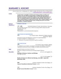 Resume Exa Good Profile Examples On Cover Letter