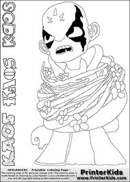 Skylanders Swap Force Coloring Page With The Villain Character KAOS That Can Be Printed Downloaded