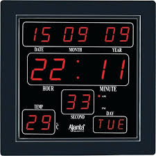 Cool Digital Wall Clock With Temperature And Humidity