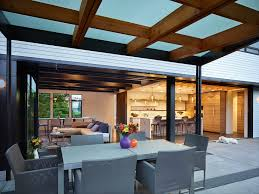 Seattle Detached Patio With Contemporary Dining Room Chairs And Grey Cedar