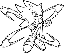 The Power Of Super Sonic Coloring Pages