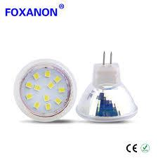 6pcs mr11 led spotlight bulb ac dc 12v 24v led l gu4 0 2835 12