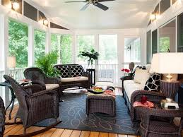 Casual Eclectic Sunroom 4 Photos