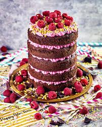 neujahrs verführung himbeer schokoladen torte