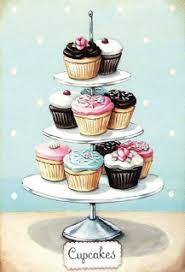 Cupcakes Fairy Cakes Etagen Teller Blechschild