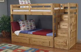 fine bunk bed with stairs in inspiration