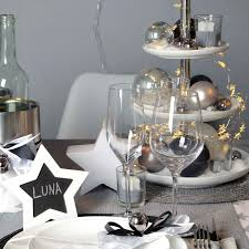 stilsicher in silber silber tischdeko weihnachten deko