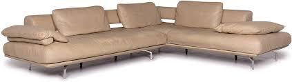 dieter knoll collection maranello leder ecksofa beige sofa