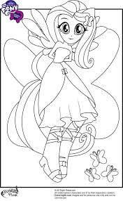Coloring Pages Girls My Little Pony Equestria Rainbow Rocks Girl Games Medium Size