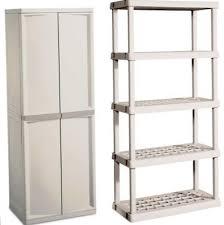 Hdx Plastic Storage Cabinets by Sterilite 4 Shelf Utility Storage Cabinet With Hdx 27 In W Plastic
