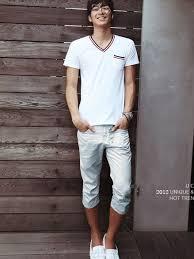 2012 New Fashion Men Casual Cropped Pants Azure