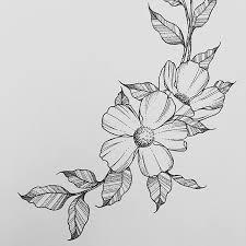 drawings flowers