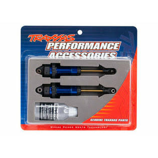 Traxxas 7462 Shocks - GTR XX-Long Blue-Anodized - PTFE-Coated Bodies with Tin