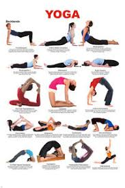 Image Is Loading YOGA BACKBENDS CHART POSTER 17 Poses EASY TO