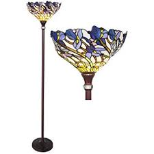 Tiffany Style Torchiere Floor Lamps by Amora Lighting Tiffany Style Am022fl14 Hummingbirds Floral