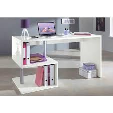 bureau blanc laqué esse bureau asymtrique contemporain laqu blanc l 140 cm bureau blanc