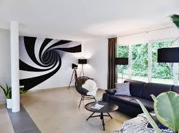 wohnzimmer mit besonderer wandgestaltung einrichtun
