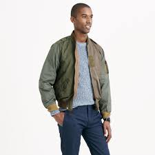 J.crew Wallace & Barnes Pieced A-2 Bomber Jacket In Green For Men ... Jcrew Wallace Barnes Pieced A2 Bomber Jacket In Green For Men Jcrew Mens Lweight Military Jacket Garment Cpo Black Lyst English Wool Turtleneck Sweater Sherpacollar Contrast August 2016 Style Guide Pleated Shorts Guides Shetland Cardigan Military Denim Workshirt Sussex Quilted Marled Cotton Anchorknit Japanese Blue Shortsleeve Indigo Sweatshirt