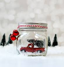 100 Trucks In Snow Mason Jar Globes Vintage Cars Mason Jar Crafts Love