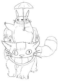 Totoro Coloring Book Coloring Pages For Kids And For Adults 龍貓
