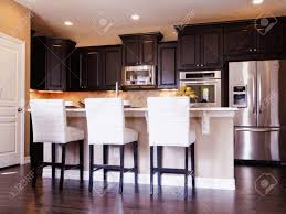 Dark Wood Cabinet Kitchens Colors Dark Kitchen Ideas Built In Microwave And Oven White Color Wooden